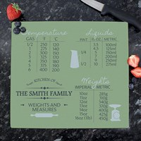 Personalised Conversions Glass Chopping Board (P080738) - Direct Dispatch