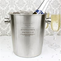 Personalised Decorative Stainless Steel Ice Bucket (P0104H96) - Direct Dispatch