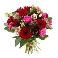 Pink Love Hand Tied Valentine's Day Bouquet