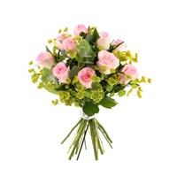 Pink Rose & Bupleurum Cut Flower Handtied Bouquet