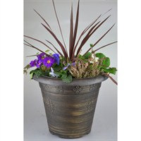 Planted Medley Round Pot Bedding Planter