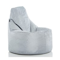 Pouf Daddy The Peardrop Light Grey/Silver (PDTEAP114) Direct Dispatch