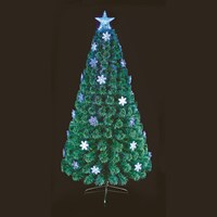 Premier 1.2m Blue And White Snowflake Fibre Optic Artificial Christmas Tree (FT191044)