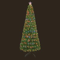 Premier 1.2m Slim Fibre Optic Artificial Christmas Tree With Leds & Light Up Star (FT171070)
