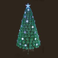 Premier 1.5m Blue And White Snowflake Fibre Optic Artificial Christmas Tree (FT191045)