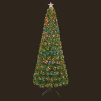 Premier 1.5m Slim Fibre Optic Artificial Christmas Tree With Leds & Light Up Star (FT171071)