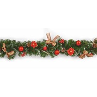 Premier 1.8m Red Dressed Artificial Christmas Garland (DF187165)