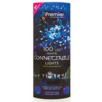 Premier 100 LED Connectable Lights - White (LI096522W) Christmas Lights