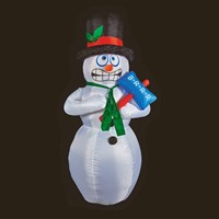Premier 2.1m Inflatable Shivering Snowman (LV191382) Christmas Lights