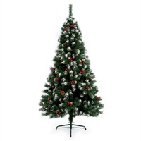Premier 2.1m Snow Tipped Berry and Cone Christmas Tree (TR700ST)
