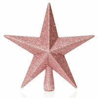 Premier 20cm Pink Christmas Tree Top Glitter Star (TD126324DUP)