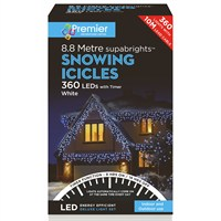 Premier 360 LED Snowing Icicles With Supabrights - White (LV162183W) Christmas Lights