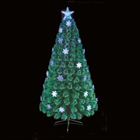 Premier 80cm Blue And White Snowflake Fibre Optic Artificial Christmas Tree (FT191043)