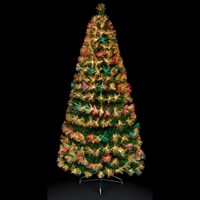 Premier 80cm Colour Change Firework Burst Christmas Tree with Warm White LEDs & Fibre Optics (FT171084)