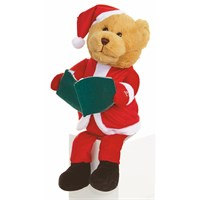 Premier 28cm Animated Story Telling Christmas Bear With 4 Minute Story (MB171395)