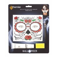 Premier Halloween Costume - Day of the Dead Tatoo Make Up Set (HU181921)