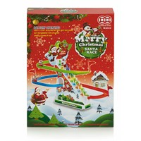 Premier Merry Christmas Santa Race With Lights & Music Battery Operated (AC191351)
