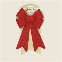 Premier Red Velvet Christmas Bows with Red Glitter (Single) (AC136731)