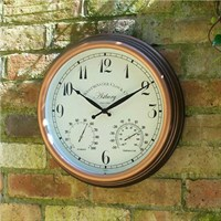 Outside In Astbury Wall Clock & Thermometer 12 Inch (5060010)