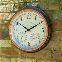Outside In Astbury Wall Clock & Thermometer 15 Inch (5060011)