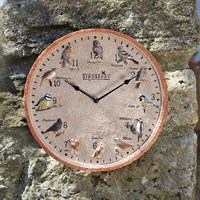 Outside In Birdberry Wall Clock 12 Inch (5064005)