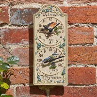 Outside In Birdberry Wall Clock & Thermometer (5064006)