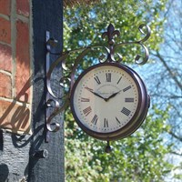 Outside In Double Sided Marylebone Station Clock & Thermometer 8 Inch (5063010)