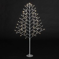 SnowTime Lit 2D Christmas Tree - 96 Warm White LEDS - 120cm (RS04353)