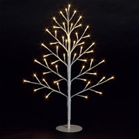 SnowTime Lit 2D Christmas Tree - 51 Warm White LEDS - 60cm (RS04350)
