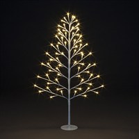 SnowTime Lit 2D Christmas Tree - 72 Warm White LEDS - 90cm (RS04352)