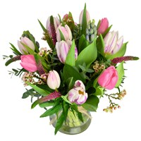 Great Gatsby Hand Tied Valentine's day Bouquet Vase Arrangement