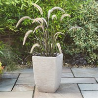 Stewarts Garden Cotswold Tall Square Planter - 33cm - Light Sand (5142080)