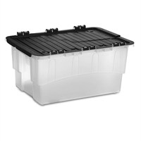 Strata Clear Croc Storage Box with Folding Lid - 40 Litres (HW398)