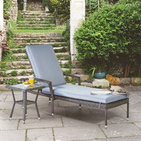 Supremo Athena Lounger & Side Table Outdoor Garden Furniture (840460)