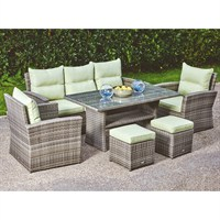 Supremo Bari Outdoor Lounge Dining Set (524305)