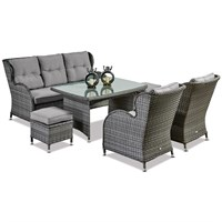 Supremo Palermo Lounge Dining Outdoor Garden Furniture Set (633424)