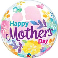 Treat Mum - Bubble Balloon Floral Happy Mother's Day