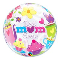 Treat Mum - Bubble Balloon Tea & Cakes Best Mum Ever