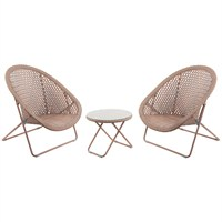 TOBS Faux Rattan Folding Lounge Set - Copper (24504)