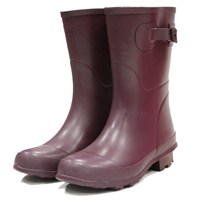 Town and Country Bradgate Short Wellington Boots - Aubergine
