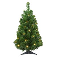 Tree Classics 60cm (2ft) Arctic Spruce Pre-Lit with White LEDs Artificial Christmas Tree (24-72-300LW)