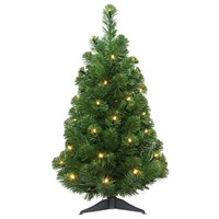 Tree Classics 60cm (2ft) Artic Spruce Artificial Christmas Tree Pre-Lit with LED (24-72-300LM)