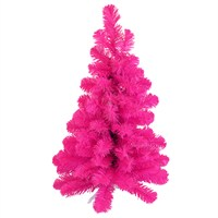 Tree Classics 60cm (2ft) Table Tree Pink Artificial Christmas Tree (24-72-300PK)