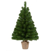 Tree Classics 60cm (2ft) Green Burlap Artificial Christmas Table Tree (24-72-BLP)