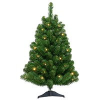 Tree Classics 90cm (3ft) Arctic Spruce Artificial Christmas Tree Pre-Lit with Warm White LED (36-136-300LM)