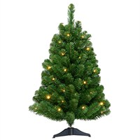 Tree Classics 90cm (3ft) Arctic Spruce Artificial Christmas Tree Pre-Lit with White LEDs (36-136-300LW)
