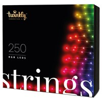 Twinkly 250 RGB LED App Controlled Smart Christmas Lights String - Gen II (TWS250STP-BUK)