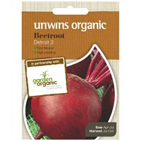 Unwins Seeds Beetroot Detroit 2 (Organic) (30610040)