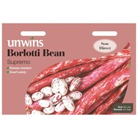 Unwins Seeds Borlotti Bean Supremo (31210001) Vegetable Seeds