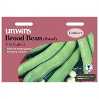 Unwins Seeds Broad Bean (Dwarf) The Sutton (31210009)